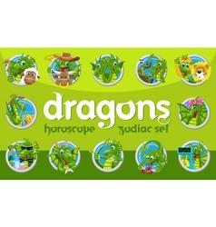 Dragons zodiac set vector