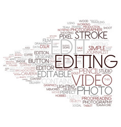 Edit word cloud concept vector