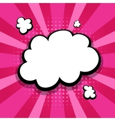 Empty colored speech bubble pop art pink vector
