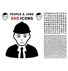 engineer icon with bonus vector image