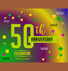 fifty anniversary card invitation vector image