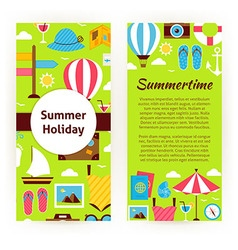 Flyer template of flat design summer holiday vector