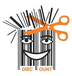 Funny BAR code discount vector image