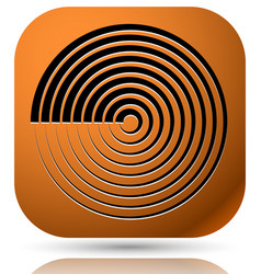 generic icon with cyclic circular concentric vector image