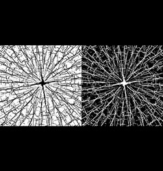 Grungy cracked lines texture in black and white vector