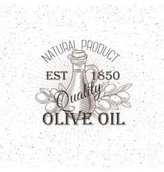 Hand drawn Olive oil label vector