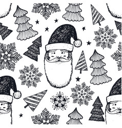 hand drawn year winter vector image