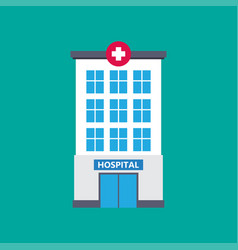 hospital building medical icon flat design vector image