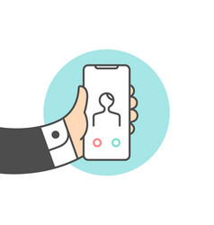 icon of smartphone with incoming call vector image