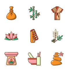 Improve skin icons set cartoon style vector