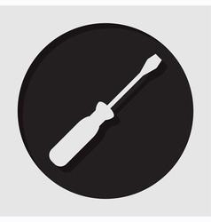 Information icon - white screwdriver vector