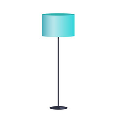 Interior item lamp blue color vector