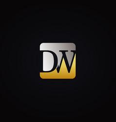 letter dw initial logo design symbol vector image