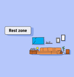 living room rest zone modern apartment furniture vector image