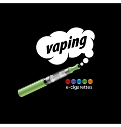 logo electronic cigarette vector image vector image