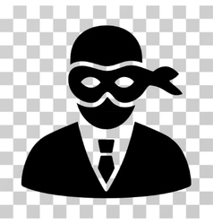 Masked Thief Icon vector image