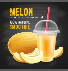 Melon smoothie vector