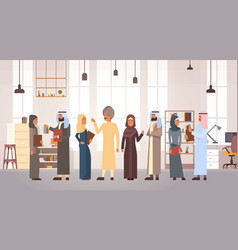 muslim people business man and woman team in vector image