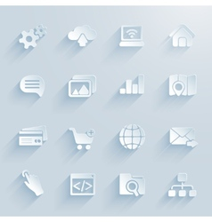 paper icons for infographics vector image