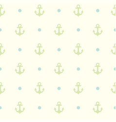 Pattern the anchor for textile or other design vector