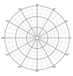 polar grid vector image