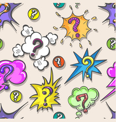 Pop art questions pattern vector
