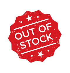 red out stock rubber stamp polygonal seal vector image