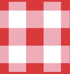 red seamless table cloth texture vector image