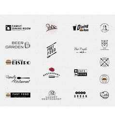 Restaurant badges logos and labels for any use vector