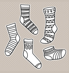 set bright socks vector image