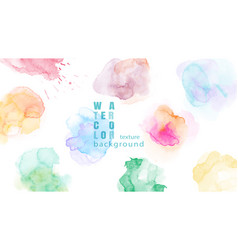 Set colorful abstract watercolor stain vector