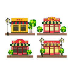 small local shop vector image