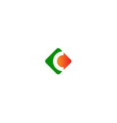 square c initial company logo vector image