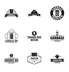 Suck logo set simple style vector