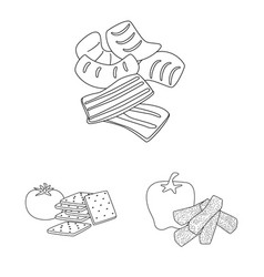 Taste and crunchy logo set vector