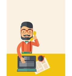 Telemarketing vector