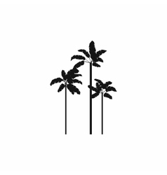 Three palm plant trees icon simple style vector image