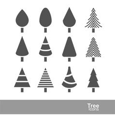 Tree icons2 vector
