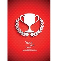 Trophy emblem vector