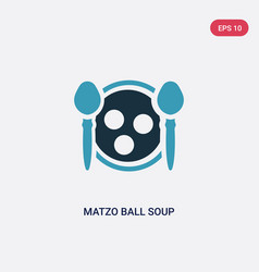 Two color matzo ball soup icon from religion vector