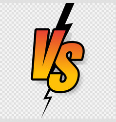 versus sign gradient style with crack isolated on vector image