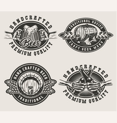 vintage brewing emblems vector image