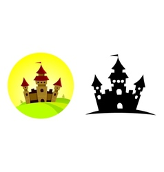 Castle on the hill vector image