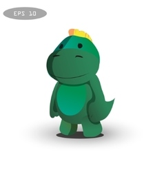 cool dinosaur character design vector image vector image