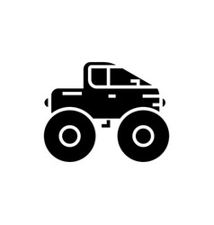 cross-country vehicle - jeep icon vector image