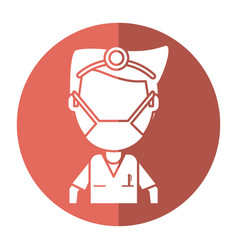doctor specialist mask medical shadow vector image