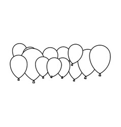 figure colored party balloons icon vector image