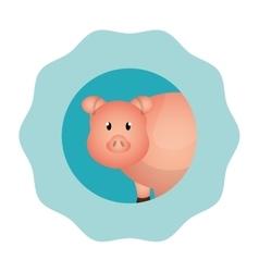 pork animal farm icon vector image vector image