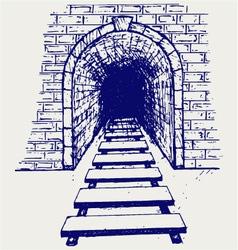 Railway tunnel vector image