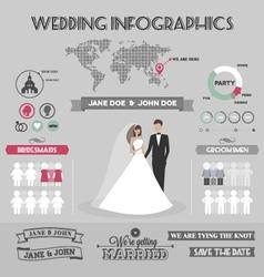 Wedding infographics vector image vector image